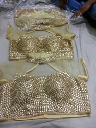 Stitched Beaded Net Blouse
