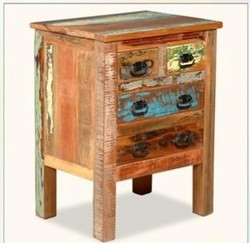 Reclaimed Wood Bed Side - Reclaimed Wood Furniture