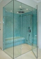 Toughened glass shower