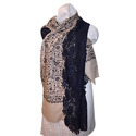 Merino Wool Embroidery Lace Poncho Scarves