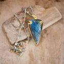 Labradorite Arrowhead Pendant Necklace