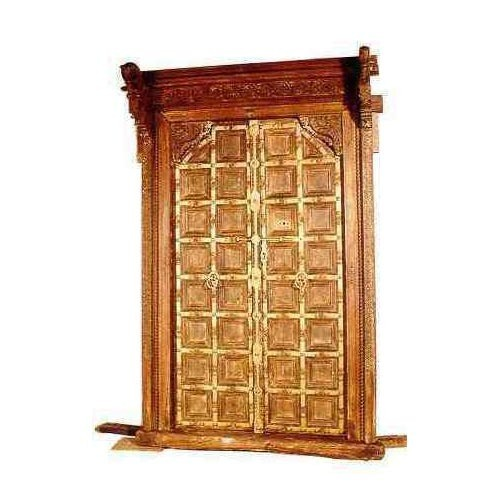 Light Brown Antique Teak Art Door