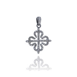 Charm 92.5 Silver Pave Pendant