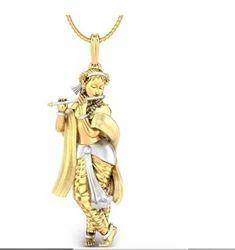 Krishna pendant at best price in india lord shri krishna gold pendant aloadofball Gallery