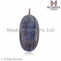 Labradorite Budhha Diamond Pendant