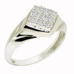 SHRI0585 Silver Men's Ring
