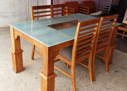 Dining Table Set Wood Teak