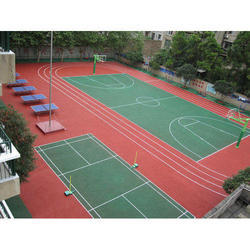 Asian Flooring Outdoor Basketball Court Flooring Services