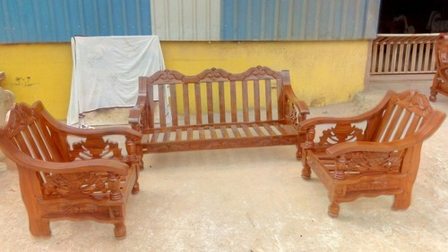 Wooden Sofa Set World Cup Model