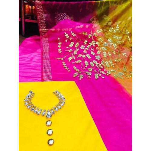 Tussar Silk Suit Material at Rs 1850 /piece | Suit Material - Sach ...