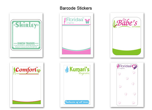 Barcode stickers printing service