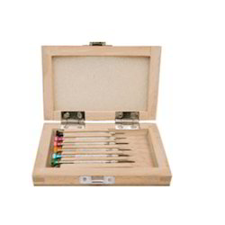 Screw Drivers  with Wooden Box  (Set of 6 Pcs.)