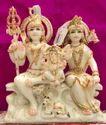 Decorative Shiv Parvati Marble Statue