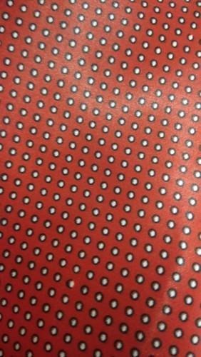 Red Printed Satin Tie Fabric