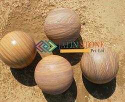 Stone Spheres in Rainbow Sandstone