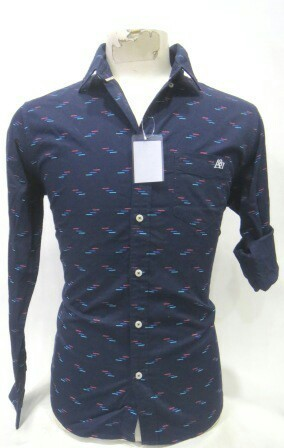 Blue Punit Polyfab Traditional Mens Shirts