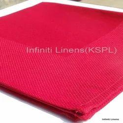 Partridge Eye Border Red  Napkin - Polyester