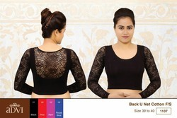 3649d301c15bce Black Full 3 4 Sleeves cotton Stretchable Blouse