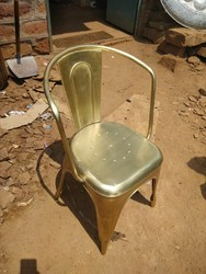Iron Chair With Electro Plating Polish