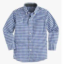 Blue John Plain Boys Checked Shirt, Dry clean