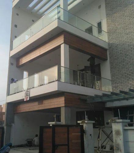 Glass Hand Railing, Glass Staircase Railing, कांच की