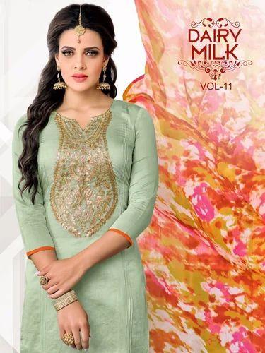 6dee2f77ae Chanderi Ladies Suits (Dairy Milk 11) at Rs 425 /piece | Chanderi ...