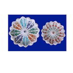 Marble Inlay Flower Shape Bowl