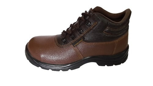 b9dba3bd02e Anti-Skid Leather Brown Safety Shoes
