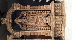 Grand Carved Wooden Balaji