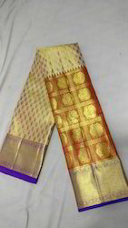 Pure Kanjivaram Silk Wedding Wear Saree with Blouse Piece
