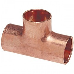 Copper Pipe Equal Tee