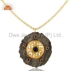 Blue Sapphire Gemstone Silver Pendant Jewelry