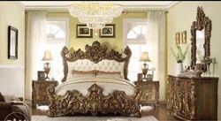 Oak Wood Antique King Bed