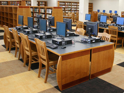 Fantastic School Library Table And Chair With Shelves Download Free Architecture Designs Scobabritishbridgeorg