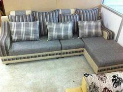 Classic Furn Wood L Shape Sofa Set