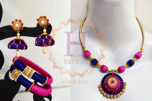 21d569de37 Harz Silk Thread Necklace Set, Rs 650 /set, Harz Online Store | ID ...