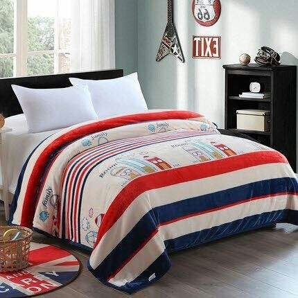 Stripes Flannel Winter Bedsheets