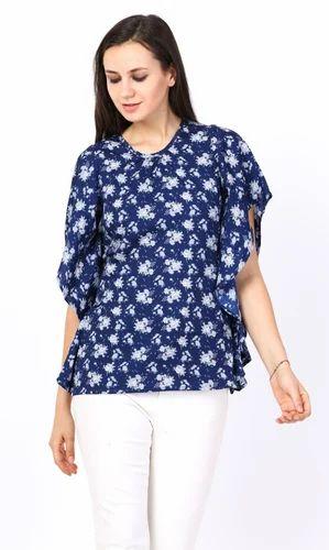 32cd4ba7a46 Girls Georgette 3 4Th Sleeves Printed Top