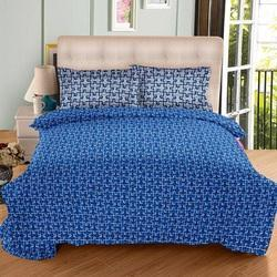 double bedsheet with 2 pillow cover