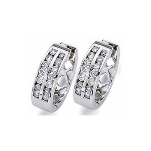 Sheetal Diamonds Party Wear Diamonds Hoop Earring, Packaging Type: Box