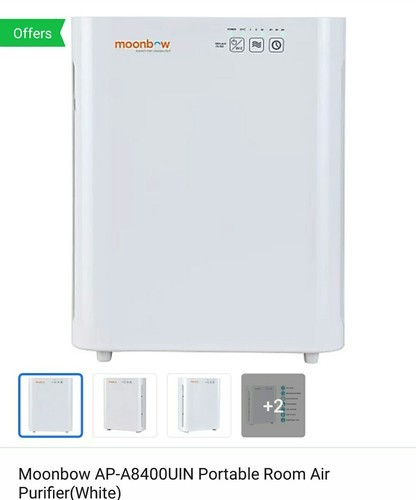 350-700 Sqft Moonbow(Hindware)Air Purifier, Automatic Grade: Automatic, HEPA