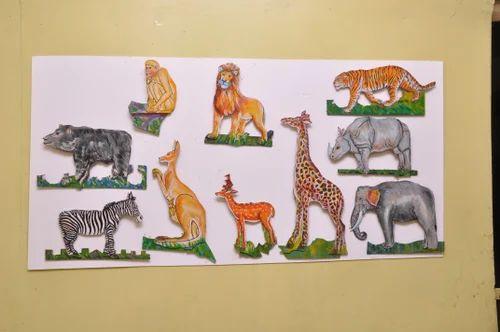 wild animals wall hanging durable cutouts 10 pictures big deewar