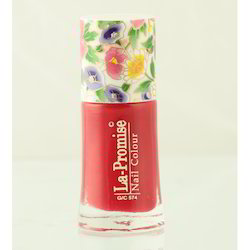 La Promise G/C 574 Red Nail Polish, Glass Bottle, Packaging Size: 11 Ml