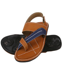 PVC Daily Wear Men Trendy Sandals - Tan