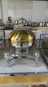 Round Golden Chaffing Dish