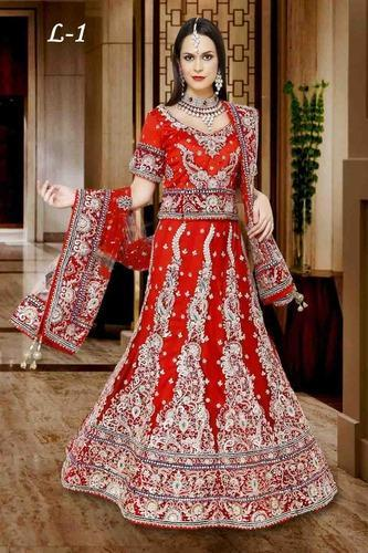 8ab166c89f Marriage Wedding Lehengas at Rs 29500 /piece(s) | Wedding Lehengas ...