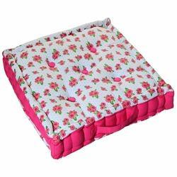 Rose Print Floor Cushion