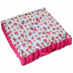 Rose Print Floor Cushion