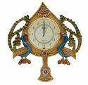 Wooden Antique Peacock Bell Clocks
