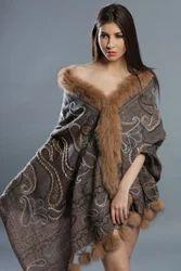 Woolen Fur Shawl